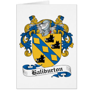 Escudo de la familia de Haliburton Tarjetas