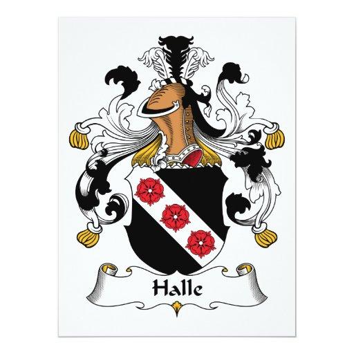 """Escudo de la familia de Halle Invitación 6.5"""" X 8.75"""""""