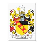 Escudo de la familia de Hallett Lona Envuelta Para Galerías
