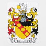 Escudo de la familia de Hallett Mantas De Bebé