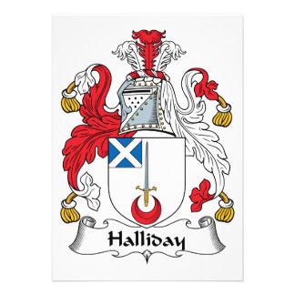 Escudo de la familia de Halliday Comunicados