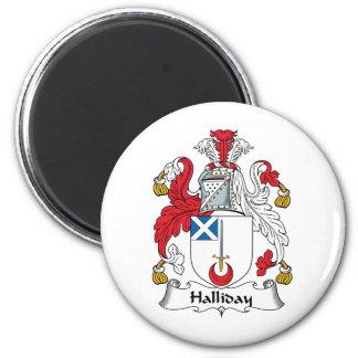 Escudo de la familia de Halliday Imanes Para Frigoríficos