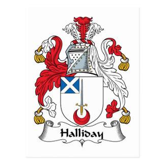 Escudo de la familia de Halliday Tarjeta Postal