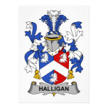 Escudo de la familia de Halligan Invitacion Personal