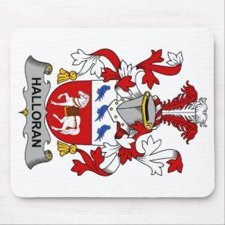 Escudo de la familia de Halloran Tapetes De Ratones