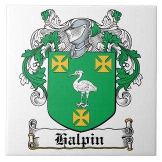 Escudo de la familia de Halpin Azulejos Ceramicos