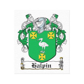 Escudo de la familia de Halpin Impresiones De Lienzo