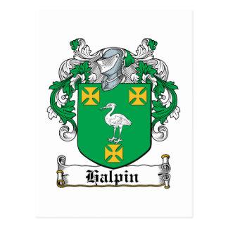 Escudo de la familia de Halpin Postales