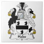 Escudo de la familia de Halse Azulejos