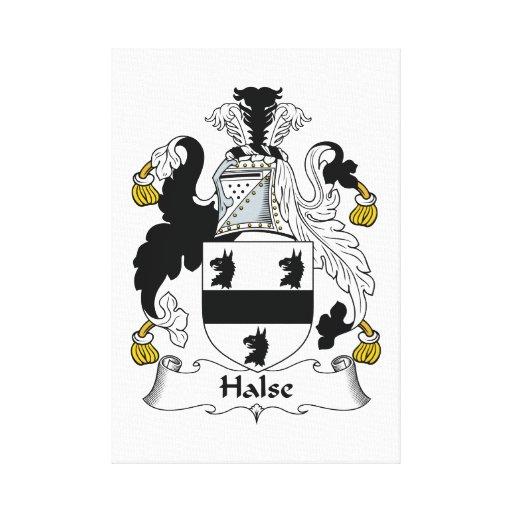 Escudo de la familia de Halse Impresiones En Lona