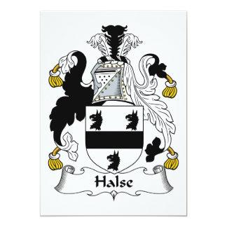 Escudo de la familia de Halse Invitación 12,7 X 17,8 Cm