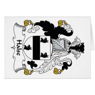 Escudo de la familia de Halse Tarjeta De Felicitación