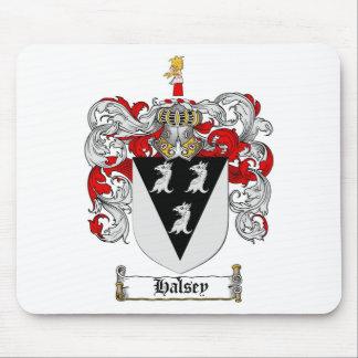 ESCUDO DE LA FAMILIA DE HALSEY - ESCUDO DE ARMAS ALFOMBRILLA DE RATÓN