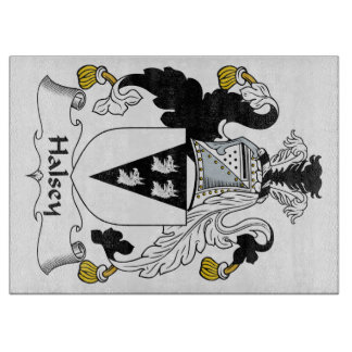 Escudo de la familia de Halsey Tabla De Cortar