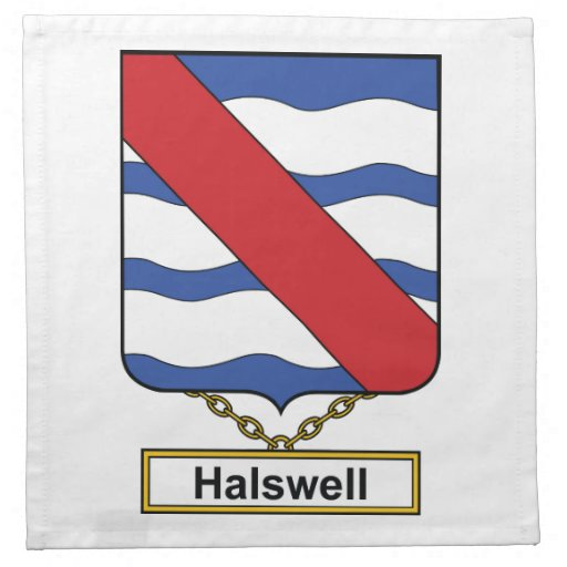 Escudo de la familia de Halswell Servilletas De Papel
