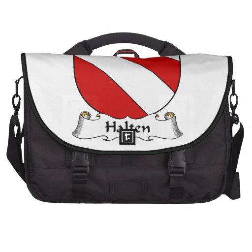 Escudo de la familia de Halten Bolsas Para Portatil