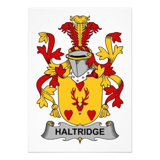 Escudo de la familia de Haltridge Comunicado Personalizado