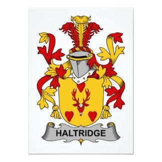 """Escudo de la familia de Haltridge Invitación 5"""" X 7"""""""