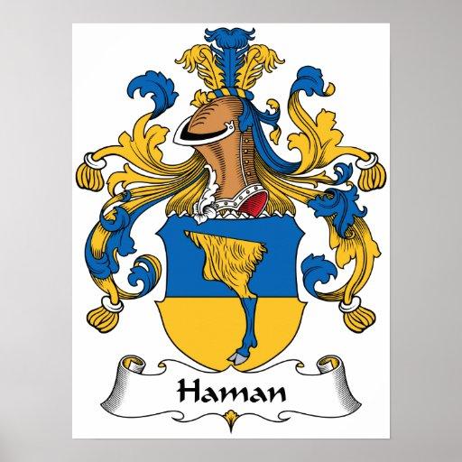 Escudo de la familia de Haman Posters