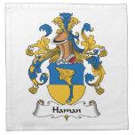 Escudo de la familia de Haman Servilleta Imprimida