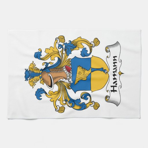 Escudo de la familia de Hamann Toallas