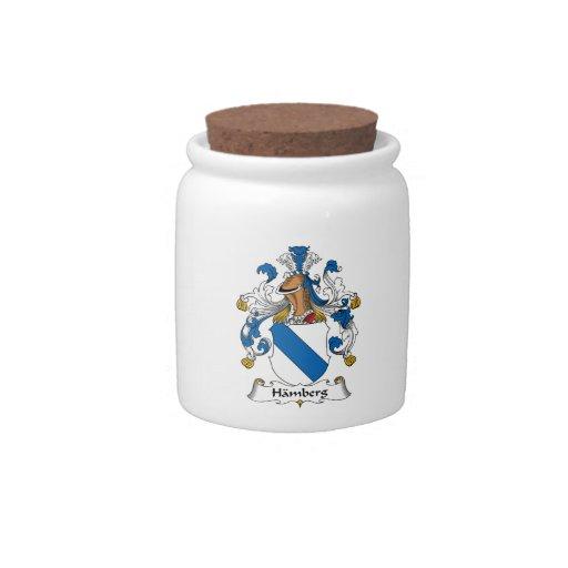 Escudo de la familia de Hamberg Plato Para Caramelo