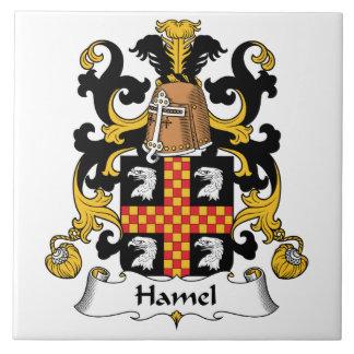Escudo de la familia de Hamel Azulejo Cuadrado Grande