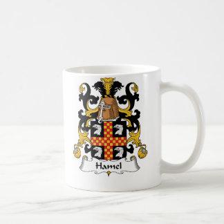 Escudo de la familia de Hamel Taza Básica Blanca