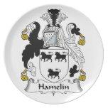 Escudo de la familia de Hamelin Plato De Cena