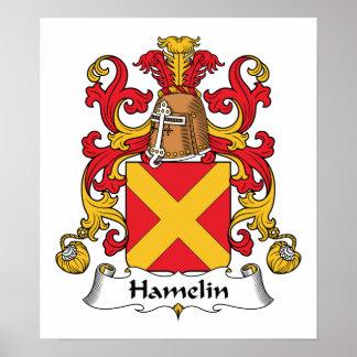 Escudo de la familia de Hamelin Póster