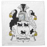 Escudo de la familia de Hamelin Servilletas Imprimidas