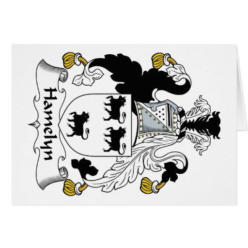 Escudo de la familia de Hamelyn Tarjeta De Felicitación