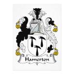 Escudo de la familia de Hamerton Anuncio Personalizado