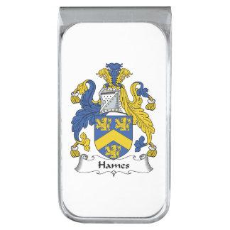Escudo de la familia de Hames Clip Para Billetes Plateado