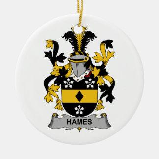 Escudo de la familia de Hames Ornaments Para Arbol De Navidad