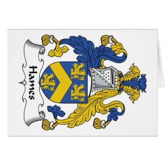 Escudo de la familia de Hames Tarjeta De Felicitación