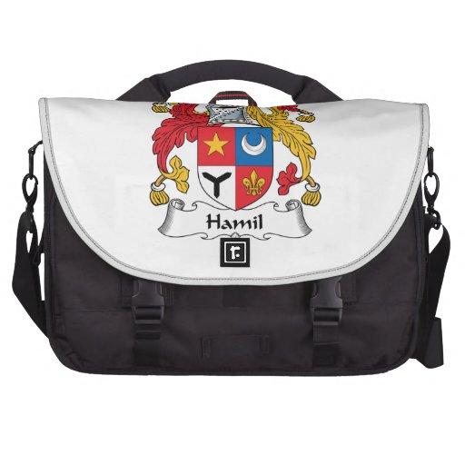 Escudo de la familia de Hamil Bolsa Para Ordenador