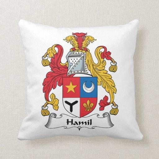Escudo de la familia de Hamil Cojin