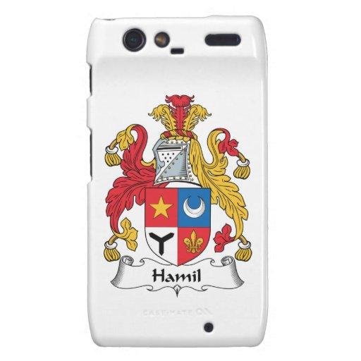 Escudo de la familia de Hamil Motorola Droid RAZR Carcasas