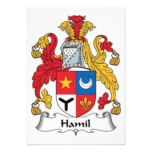 Escudo de la familia de Hamil Invitaciones Personalizada