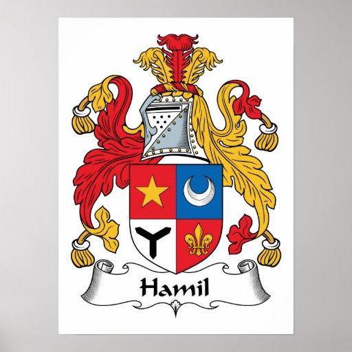 Escudo de la familia de Hamil Poster