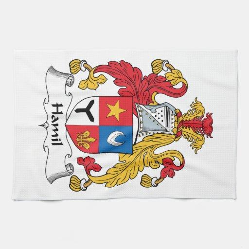 Escudo de la familia de Hamil Toallas De Mano