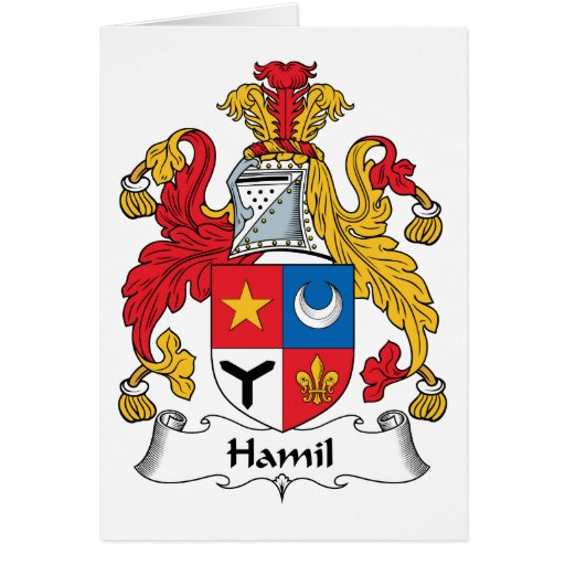 Escudo de la familia de Hamil Tarjetón