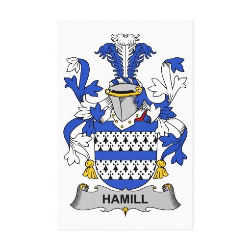 Escudo de la familia de Hamill Lienzo Envuelto Para Galerías