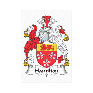 Escudo de la familia de Hamilton Lienzo Envuelto Para Galerías