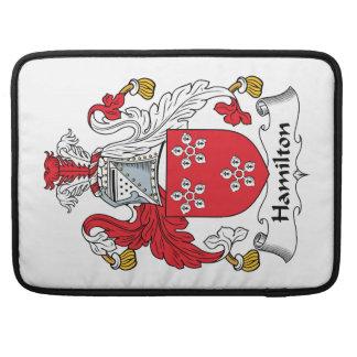 Escudo de la familia de Hamilton Funda Para Macbooks