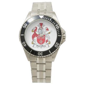 Escudo de la familia de Hamilton Reloj De Mano