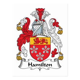 Escudo de la familia de Hamilton Tarjeta Postal
