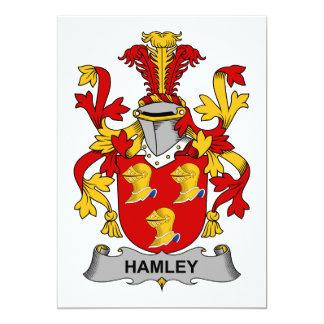 """Escudo de la familia de Hamley Invitación 5"""" X 7"""""""