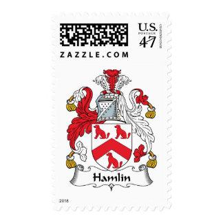 Escudo de la familia de Hamlin Estampillas